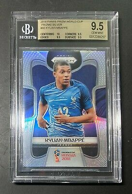 $ CDN6690.94 • Buy BGS 9.5 2018 Panini World Cup Prizm #80 Kylian Mbappe RC Silver TRUE Gem Mint