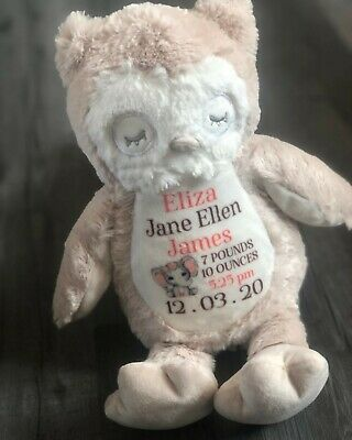 Personalised Soft Teddy, Baby Teddy,personalised, Baby Gift, Birth  • 15£