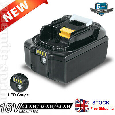 For Makita 18V 5.0AH LXT Lithium Ion Battery Replaces BL1860B BL1830 BL1850 Tool • 21.99£