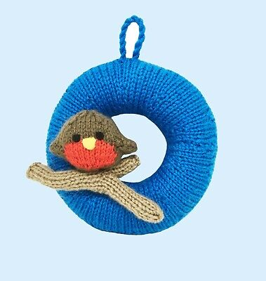 £2.30 • Buy Knitting Pattern 321: Christmas Wreath With Robin,  Dk Easy Knit. No Form Needed
