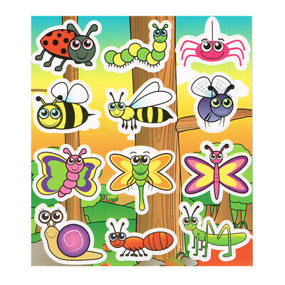 Wildlife Stickers, Childrens Party Sticker Sheets, Kids Party Bag Fillers • 1.10£