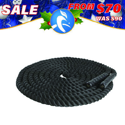 AU69.90 • Buy 9m/12m/15m Home Gym Battle Rope Strength Training Exercise Workout Battling 38mm