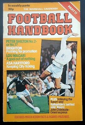 Marshall Cavendish Football  Handbook  Brighton & Hove Albion  Man City Part 17 • 2.95£