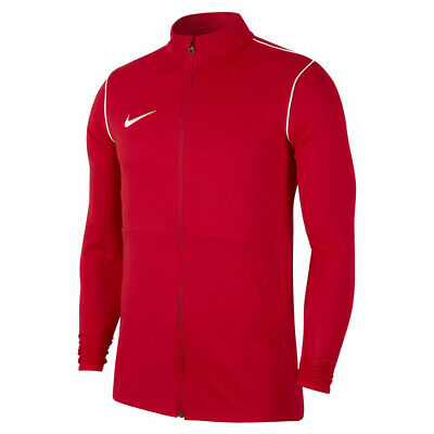 Nike Dry Park 20 Knit Mens Red Warm Up Top Training Sports Track Jacket • 22.99£