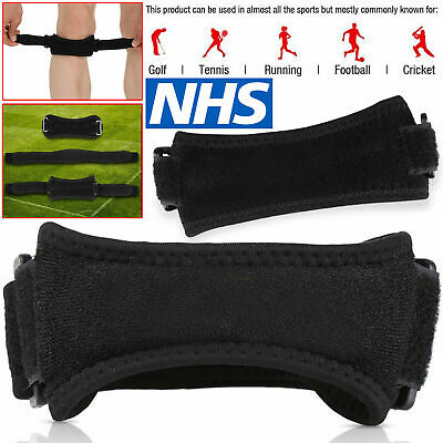 Patella Tendon Strap Knee Support Adjustable Jumpers Runners Pain Band Brace Set • 5.99£