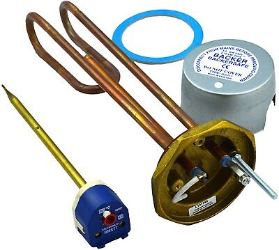 """Backer Backersafe Immersion Heater & Thermostat 11"""" Or 14"""" • 23.99£"""