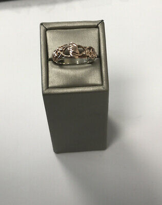 Clogau Sterling Silver & 9ct Rose Gold Tree Of Life Ring Size N. Pre Owned • 99£