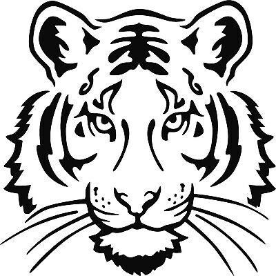 £2.99 • Buy Tiger Face Vinyl Decal Sticker For Car/Window/Wall