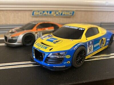 £48 • Buy Scalextric Audi R8 X2 Both Fully Serviced & New Braids Fitted Run Lovely