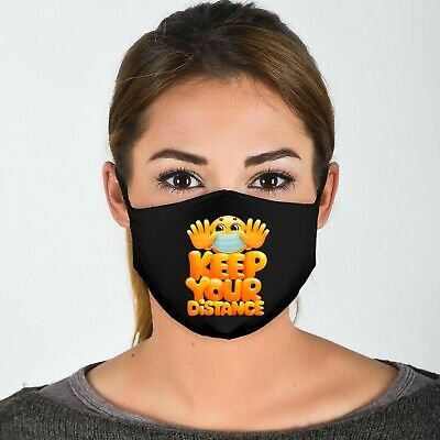 Keep Your Distance Unisex 4 Ply Cotton Face Covering/Masks. Washable,   • 9.99£