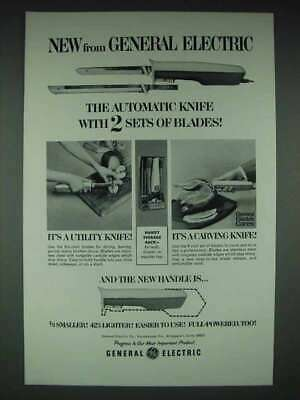 $ CDN22.40 • Buy 1966 GE Automatic Knife Ad - 2 Sets Of Blades