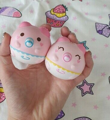 AU25 • Buy Rare 2 Mini Baby Marshmellii Pig Licensed Squishies Kawaii Squishy Squeeze Toy