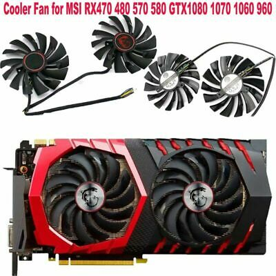£13.97 • Buy 2PCS Cooler Fan For MSI RX470 480 570 580 GTX1080 1070 1060 960 GAMING Card Sets