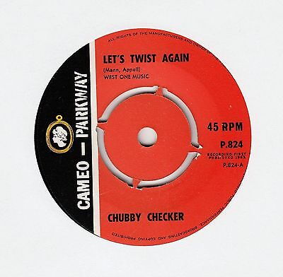 97) - 7  - CHUBBY CHECKER - Let's Twist Again - The Twist - ( Cameo Parkway ) • 8.99£