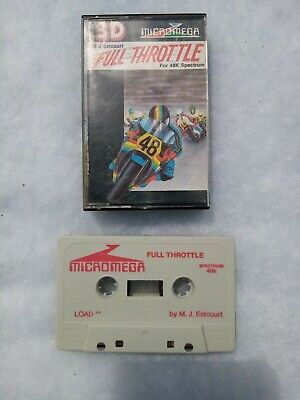 Vintage Sinclair ZX Spectrum Full Throttle By Micromega Game Cassette • 4.50£