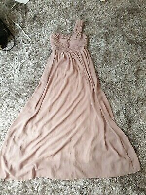 Eva And Lola Long Dress Gown. Dusty Rose/ Pink Nude.size L. Uk 12-14.  • 14£