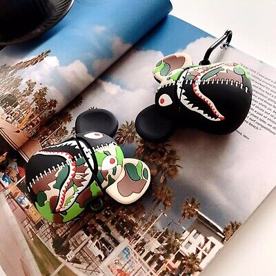 $14.99 • Buy A Bathing Ape BAPE Shark BearBrick AirPods 1 2 Pro Case Cover With Hook