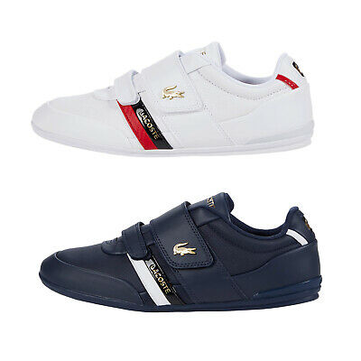 Mens Lacoste MISANO Strap 0120 Leather Sneakers With Hook And Loop NEW   • 70.77£