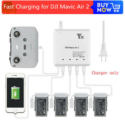 AU61.79 • Buy  6 In 1 Intelligent Fast Charging Hub Multi Battery Charger For DJI Mavic Air 2