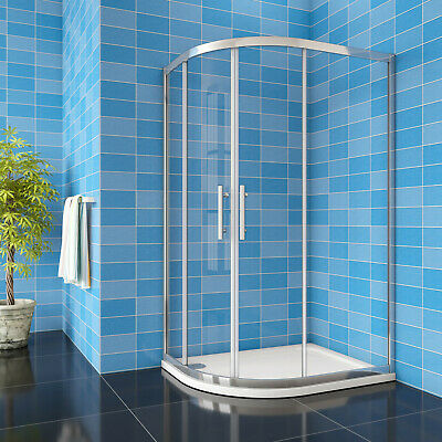 Quadrant Shower Enclosure Chrome Frame Walk In 8mm EasyClean Glass Cubicle Door • 128.77£