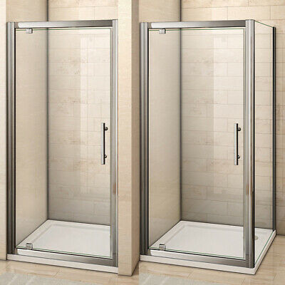 £81.69 • Buy Pivot Hinge Shower Enclosure Glass Door Screen Cubicle Side Panel/Stone Tray 6mm