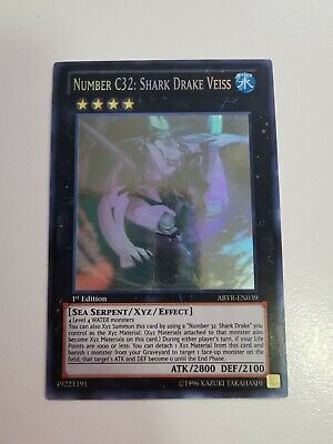 AU114.95 • Buy Number C32: Shark Drake Veiss - ABYR-EN039 - Ghost Rare - 1st Edition