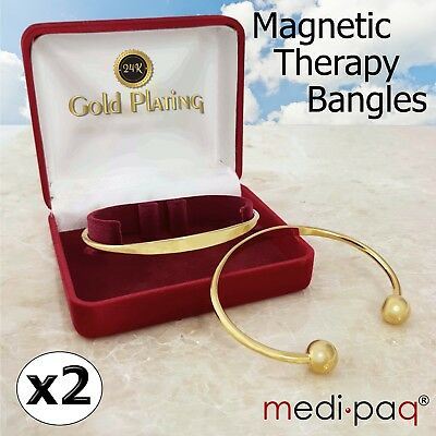 Arthritis Bracelets Bangle Strong Magnetic Therapy Mens Ladies Gold Pain Relief • 8.89£