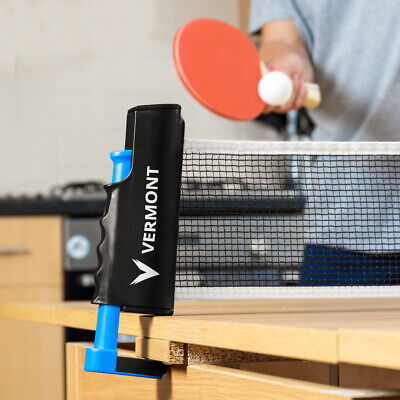 Vermont Retractable Table Tennis Net | BATS & BALLS INCLUDED – Ping Pong Net • 12.99£