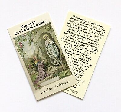 OUR LADY OF LOURDES Prayer Card - Wallet / Purse / Bookmark Size • 1.50£