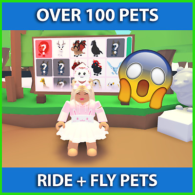🔥 Adopt Me Fly Ride Pets Common To Ultra Rare - RF FR Including Neon 🔥 • 4£