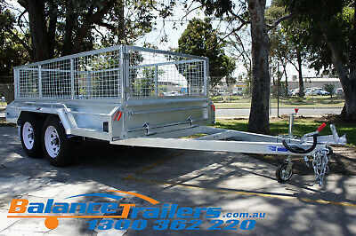 AU4150 • Buy 9x5 HOT DIP GALVANISED FULL WELDED TANDEM TRAILER ATM3200KG 3.2T WITH 600MM CAGE