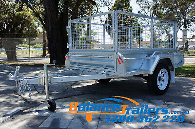 AU1700 • Buy 6x4 HOTDIP GALVANISED FULLY WELDED TIPPER BOX TRAILER WITH 600mm REMOVEABLE CAGE