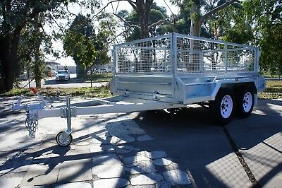 AU3350 • Buy 9x5 HOTDIP GALVANISED FULL WELDED HEAVY DUTY TANDEM TRAILER WITH 600MM CAGE