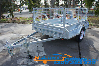 AU1900 • Buy 7x5 GALVANISED FULLY WELDED TIPPER BOX TRAILER WITH 600mm CAGE HIGH QUALITY