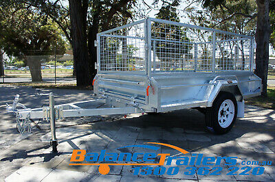 AU1800 • Buy 7x4 HOTDIP GALVANISED FULLY WELDED TIPPER BOX TRAILER WITH 600mm REMOVEABLE CAGE