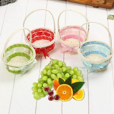 Colorful Wicker Basket Kid Child Party Flower Craft Easter Egg Hunt New # • 4.01£