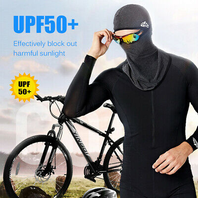 AU10.51 • Buy Cycling Face Mask UPF50+ Helmet Liner Balaclava Cooling Ice Silk Neck M3Z0