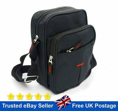 Black Cross Body Messenger Shoulder Bag Men Ladies Canvas Utility Travel Work • 8.99£