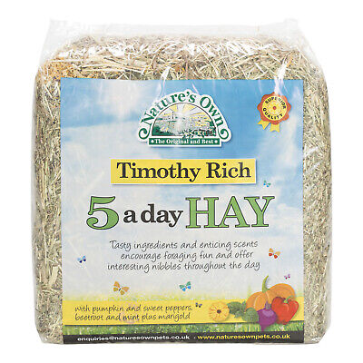 £6.64 • Buy Timothy Rich 5 A Day Animal Pet Hay With Added Pumpkin, Sweet Peppers & Beetroot