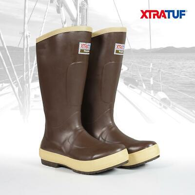XTRATUF Men's 15  Legacy Brown Lined Deck Sailing Boating Fishing Boots (22293G) • 67.95£