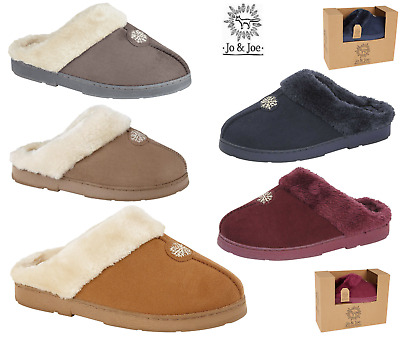 Ladies Mule Slippers Ladies Mules Slip On Slippers Sheepskin Slippers Hard Sole • 8.89£
