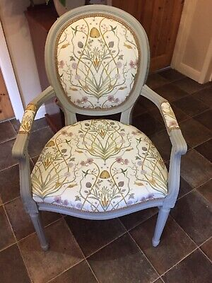 French Louis Style Carver Chair Angel Strawbridge Fabric • 95£