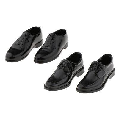 $13.35 • Buy 2 Pairs 1/6 Scale PU Leather Shoes For 12inch DML Enterbay  Figures
