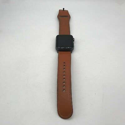 $ CDN92.26 • Buy Apple Watch Series 1 (GPS) Gray Sport 42mm Brown Non OEM Leather Fair Condition