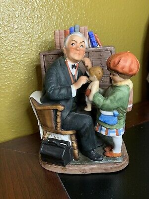 $1.10 • Buy Used Norman Rockwell Ornament Figurine 1973 A Little Girl & Her Doll