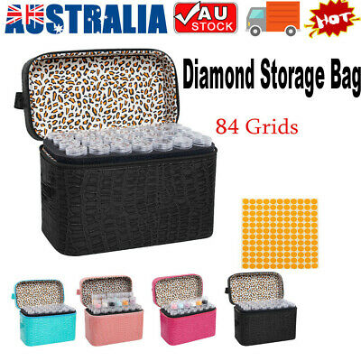 AU35.89 • Buy 84 Slot Diamond Painting Nail Art Accessories Box Embroidery Storage Holder Case