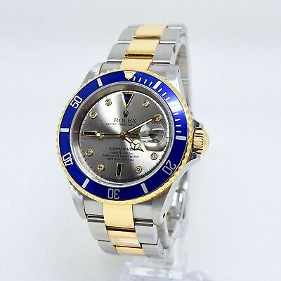 $ CDN19888.74 • Buy Rolex Submariner 16613 Serti Diamond And Sapphire Dial Box And Papers 2003