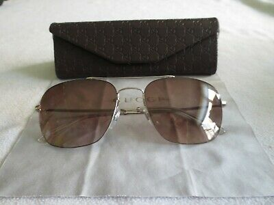 AU143.09 • Buy Gucci Silver Frame Sunglasses. GG0503S. With Case.
