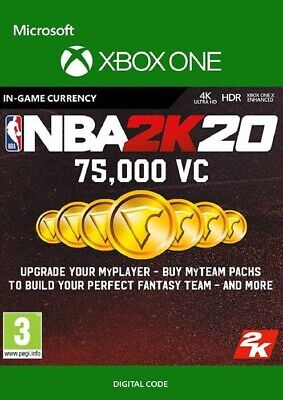 $ CDN92.16 • Buy NBA 2K20 Xbox One 75,000 VC - Digital Code (INSTANT DELIVERY)