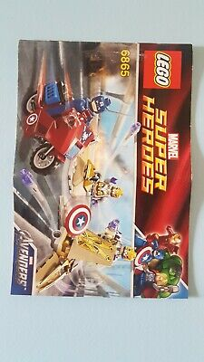 Lego Super Heroes 6865 Captain America's Avenging Cycle INSTRUCTION ONLY • 3£